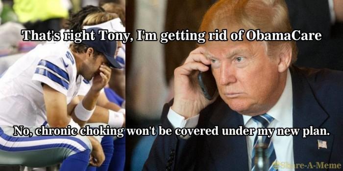Trump to Tony Romo