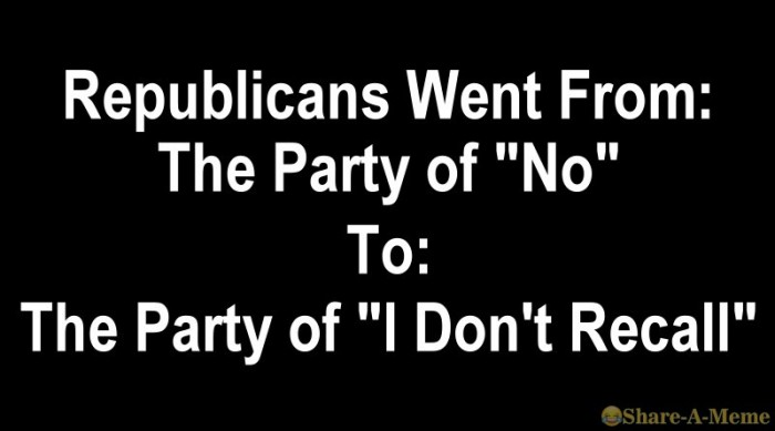 The Party Of I Do Not Recall