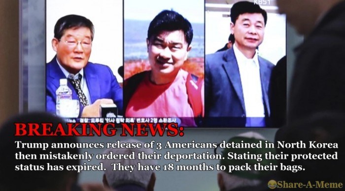Trump Orders Deportation of 3 Americans Released from North Korea