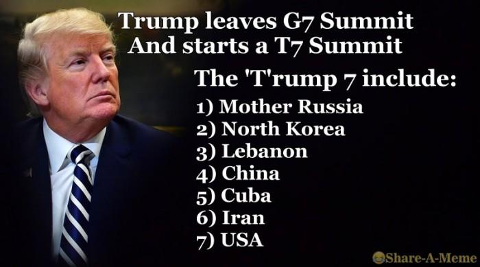 Trump Leaves G7 Summit