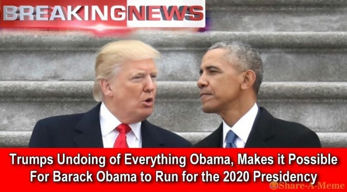 Trumps Undoing Makes 2020 Obama Run Possible