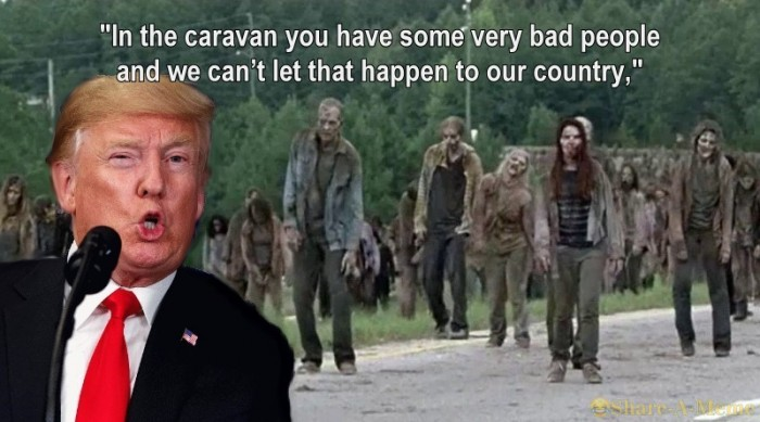 How Trump Views The Caravan of Immigrants