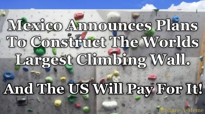 Mexico To Build Worlds Largest Climbing Wall