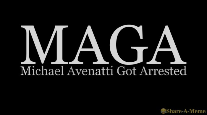 MAGA Michael Avenatti Got Arrested
