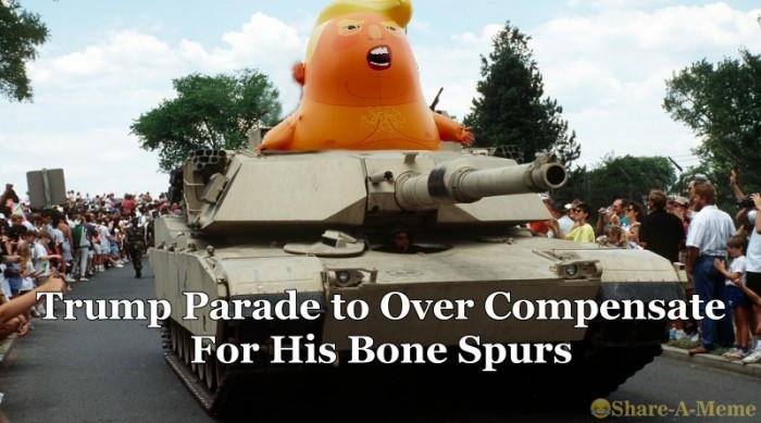 "Trump Parade: ""My Country Tis Of Me""....."